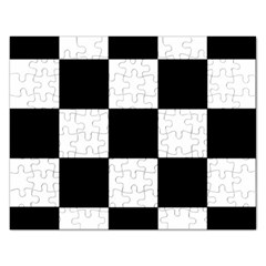 Grid Domino Bank And Black Rectangular Jigsaw Puzzl