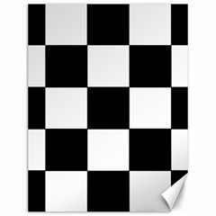 Grid Domino Bank And Black Canvas 12  X 16