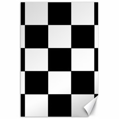Grid Domino Bank And Black Canvas 20  X 30