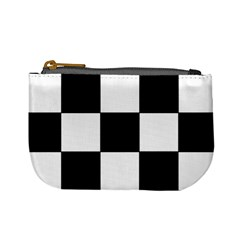 Grid Domino Bank And Black Mini Coin Purses