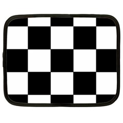 Grid Domino Bank And Black Netbook Case (xxl)