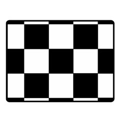 Grid Domino Bank And Black Fleece Blanket (small)