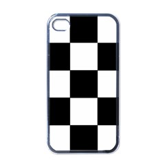 Grid Domino Bank And Black Apple Iphone 4 Case (black)