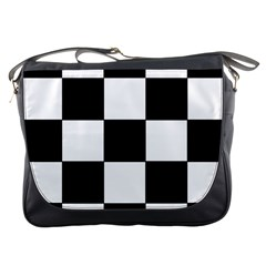 Grid Domino Bank And Black Messenger Bags