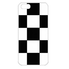Grid Domino Bank And Black Apple Iphone 5 Seamless Case (white)