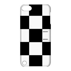 Grid Domino Bank And Black Apple Ipod Touch 5 Hardshell Case With Stand