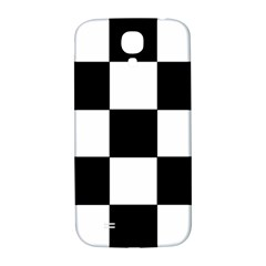 Grid Domino Bank And Black Samsung Galaxy S4 I9500/i9505  Hardshell Back Case