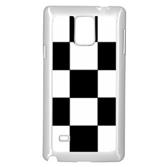 Grid Domino Bank And Black Samsung Galaxy Note 4 Case (white)