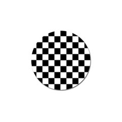 Grid Domino Bank And Black Golf Ball Marker (10 Pack)