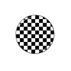 Grid Domino Bank And Black Hat Clip Ball Marker (4 Pack)