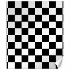 Grid Domino Bank And Black Canvas 8  X 10