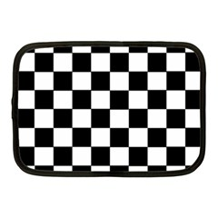Grid Domino Bank And Black Netbook Case (medium)