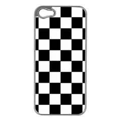 Grid Domino Bank And Black Apple Iphone 5 Case (silver)