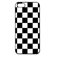 Grid Domino Bank And Black Apple Iphone 5 Seamless Case (black)