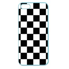 Grid Domino Bank And Black Apple Seamless Iphone 5 Case (color)