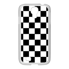 Grid Domino Bank And Black Samsung Galaxy S4 I9500/ I9505 Case (white)