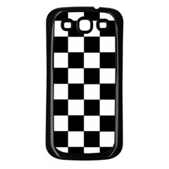 Grid Domino Bank And Black Samsung Galaxy S3 Back Case (black)