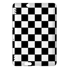 Grid Domino Bank And Black Kindle Fire Hdx Hardshell Case