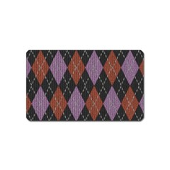Knit Geometric Plaid Fabric Pattern Magnet (name Card)