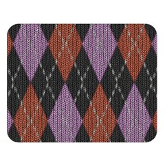 Knit Geometric Plaid Fabric Pattern Double Sided Flano Blanket (large)