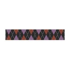 Knit Geometric Plaid Fabric Pattern Flano Scarf (mini)