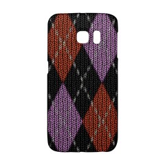 Knit Geometric Plaid Fabric Pattern Galaxy S6 Edge