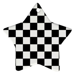 Grid Domino Bank And Black Ornament (star)