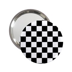 Grid Domino Bank And Black 2 25  Handbag Mirrors