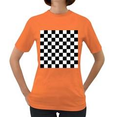 Grid Domino Bank And Black Women s Dark T Shirt