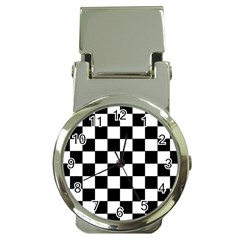 Grid Domino Bank And Black Money Clip Watches