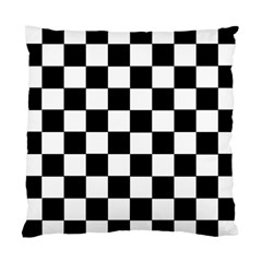 Grid Domino Bank And Black Standard Cushion Case (one Side)