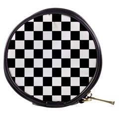 Grid Domino Bank And Black Mini Makeup Bags