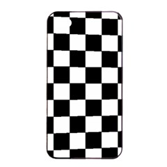 Grid Domino Bank And Black Apple Iphone 4/4s Seamless Case (black)