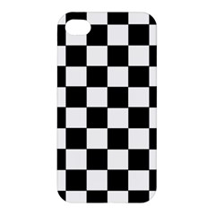 Grid Domino Bank And Black Apple Iphone 4/4s Hardshell Case