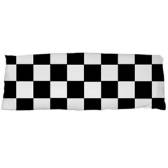 Grid Domino Bank And Black Body Pillow Case Dakimakura (two Sides)