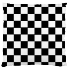 Grid Domino Bank And Black Large Cushion Case (two Sides)