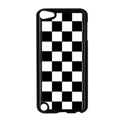 Grid Domino Bank And Black Apple Ipod Touch 5 Case (black)