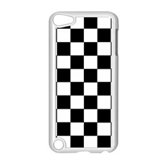 Grid Domino Bank And Black Apple Ipod Touch 5 Case (white)