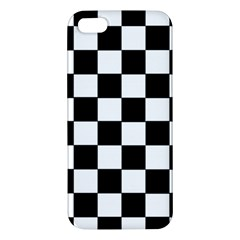 Grid Domino Bank And Black Apple Iphone 5 Premium Hardshell Case