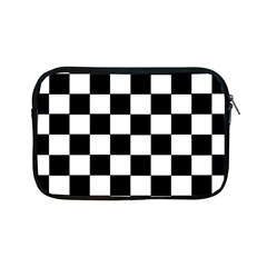 Grid Domino Bank And Black Apple Ipad Mini Zipper Cases