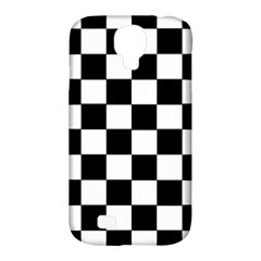 Grid Domino Bank And Black Samsung Galaxy S4 Classic Hardshell Case (pc+silicone)
