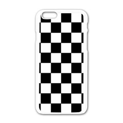 Grid Domino Bank And Black Apple Iphone 6/6s White Enamel Case