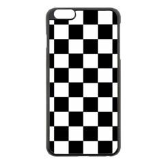Grid Domino Bank And Black Apple Iphone 6 Plus/6s Plus Black Enamel Case
