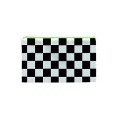 Grid Domino Bank And Black Cosmetic Bag (xs)