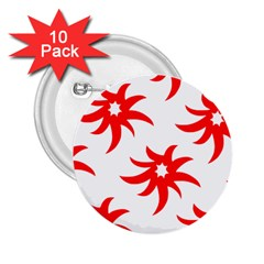 Star Figure Form Pattern Structure 2 25  Buttons (10 Pack)