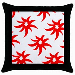 Star Figure Form Pattern Structure Throw Pillow Case (black)