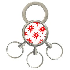 Star Figure Form Pattern Structure 3 Ring Key Chains