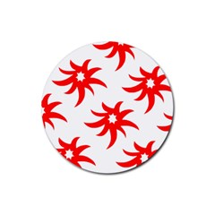 Star Figure Form Pattern Structure Rubber Coaster (round)