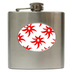 Star Figure Form Pattern Structure Hip Flask (6 Oz)