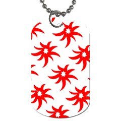 Star Figure Form Pattern Structure Dog Tag (two Sides)